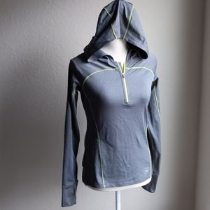 REI Hooded Quarter-Zip Athletic Pullover- Sz XS